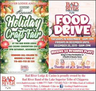 Annual Holiday Craft Fair / Food Drive
