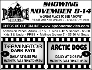 Showing November 8 - 14