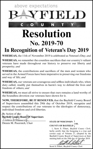 Resolution No. 2019-70