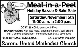Meal-in-a-Peel Holiday Bazaar & Bake Sale