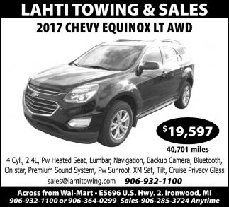2017 Chevy Equinox Lt AWD