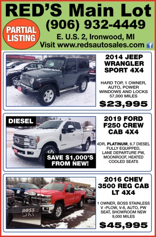 Trucks, SUVs, Cars, Work Vans