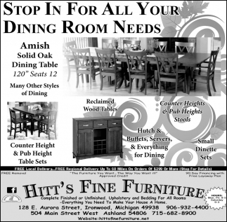 Stop in for all your sining room needs