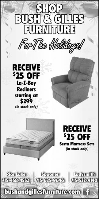Shop Bush & Gilles Furniture For The Holidays