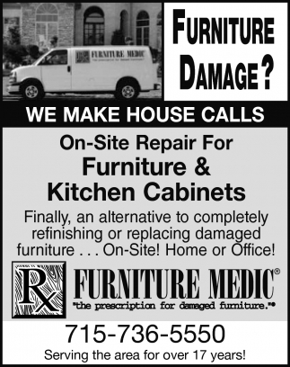 On-Site Repair For Furniture & Kitchen Cabinets