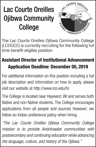 Assistant Director of Instutional Advancement