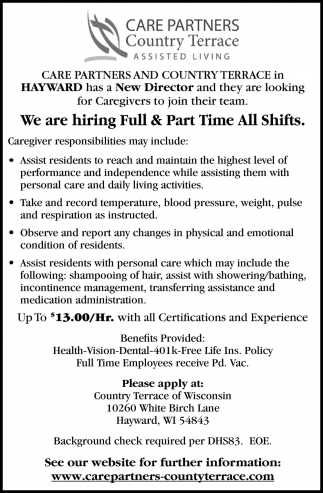 Full & Part-Time All Shifts