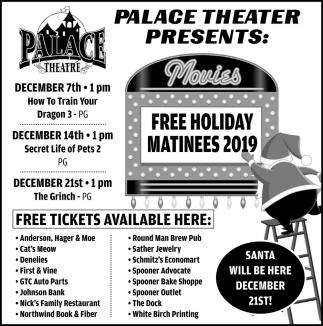 Free Holiday Matinees 2019