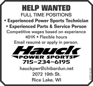 Power Sports Technician - Parts and Service Person