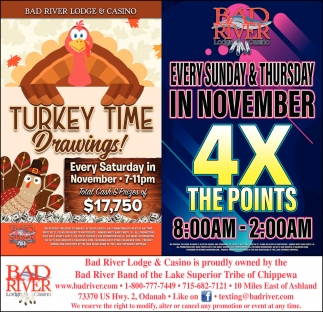 Turkey Time Drawings! / 4X The Points