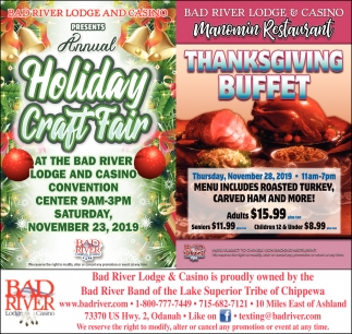 Annual Holiday Craft Fair / Thanksgiving Buffet