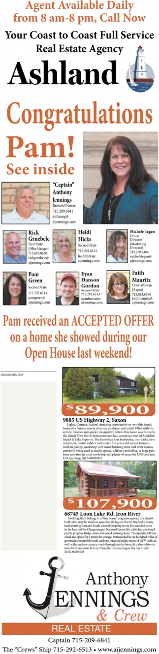 Congratulations Pam!