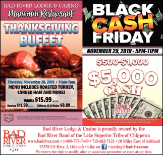 Thanksgiving Buffet / Balck Cash Friday