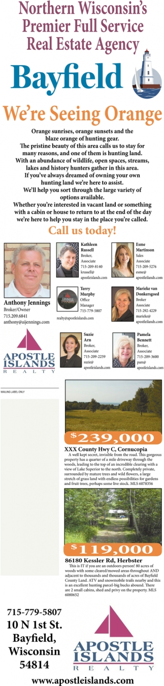 Northern Wisconsin's Premier Full Service Real Estate Agency