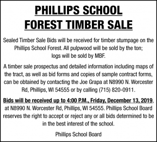 Forest Timber Sale