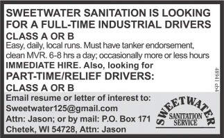 Full Time Industrial Drivers