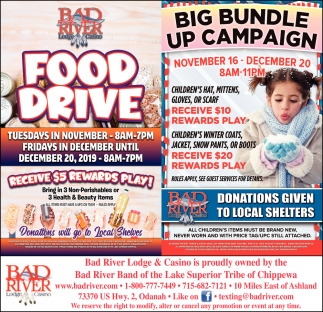 Food Drive / Big Bundle Up Campaign