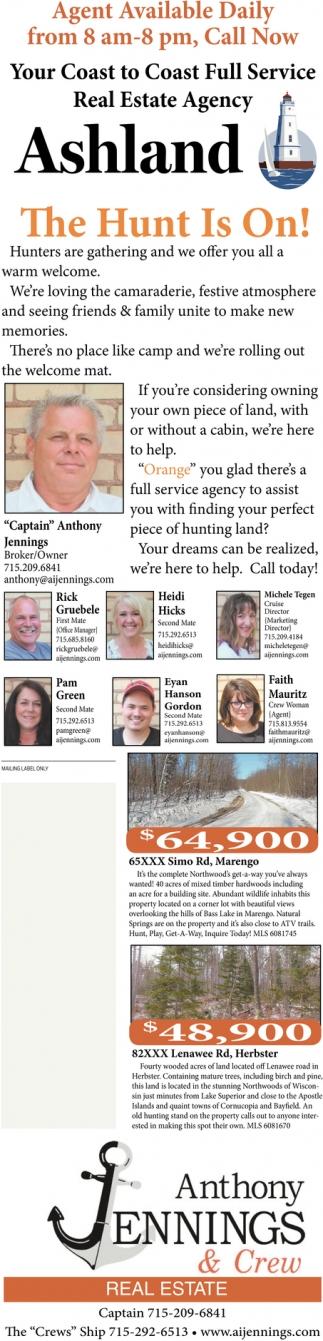 Your Coast to Coast Full Service Real Estate Agency Ashland