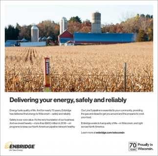 Delivering your energy, safely and reliably
