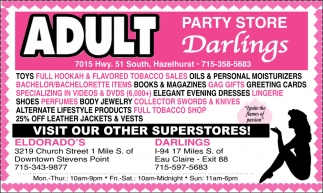 Adult Party Store