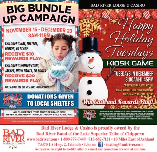 Big Bundle Up Campaign / Happy Holiday Tuesdays