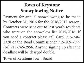Snowplowing Notice