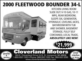 2000 Fleetwood Bounder 34-l