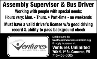 Assembly Supervisor & Bus Driver