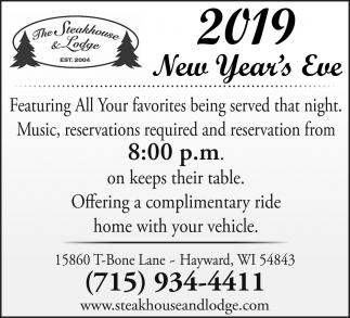 2019 New Year's Eve