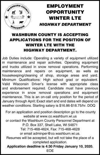Winter LTE Highway Department