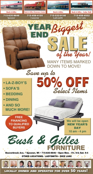 Year end Biggest Sale of the Year!