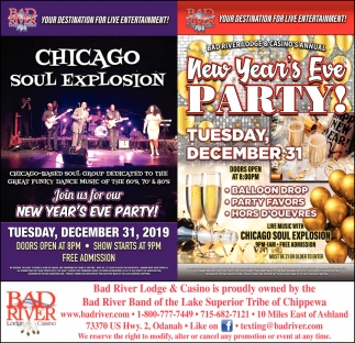 Chicago Soul Explosion / New Year's Eve Buffet