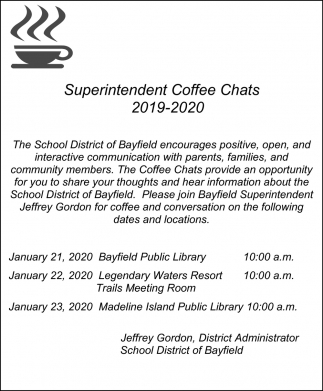 Superintendent Coffee Chats 2019-2020