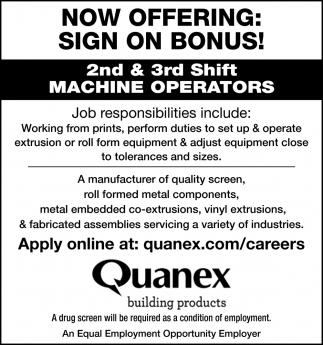 Machine Operators