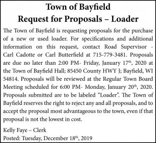 Request for Proposals - Loader