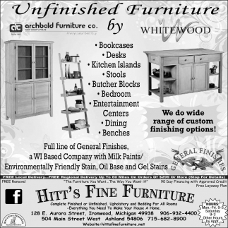 Unfinished Furniture