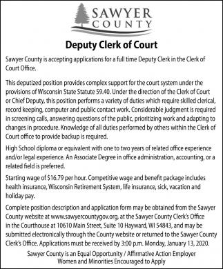 Deputy Clerk of Court