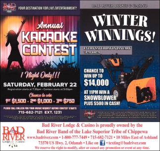 Annual Karaoke Contest / Winter Winnings!