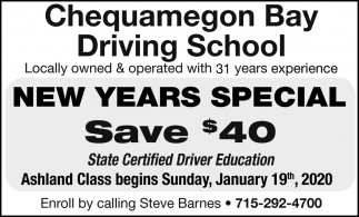 New Years Special - Save $40