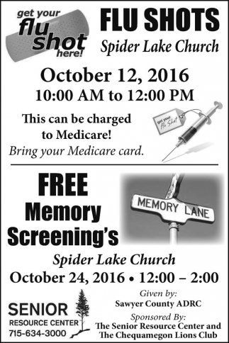 Flu Shots - Free Memory Screening's