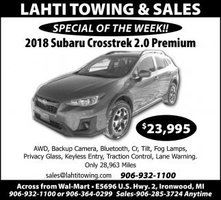 2018 Subaru Crosstrek 2.0 Premium