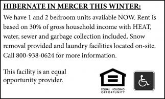 Hibernate in Mercer this Winter