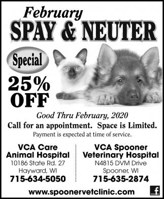 February Spay & Neuter