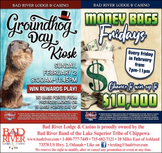 Groundhog Day Kiosk / Money Bags Fridays