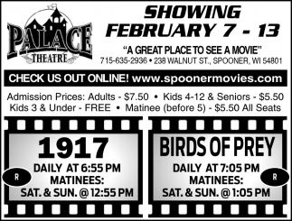 Showing February 7 - 13