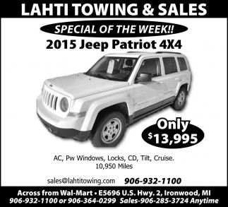 2015 Jeep Patriot 4x4