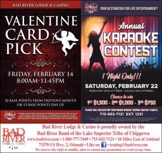 Valentine Card Pick / Annual Karaoke Contest