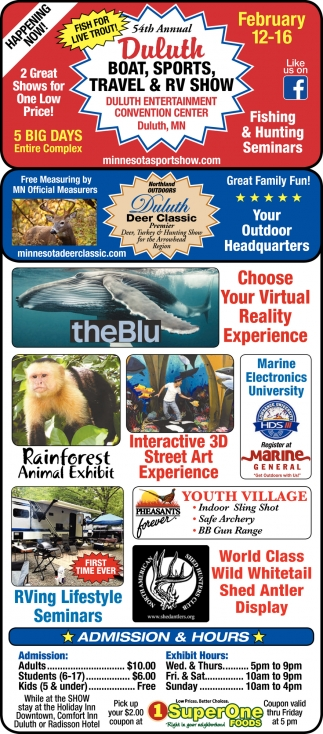 54th Annual Duluth Boat, Sports, Travel & RV Show