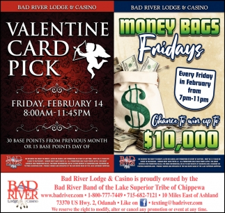 Valentine Card Pick / Money Bags Fridays
