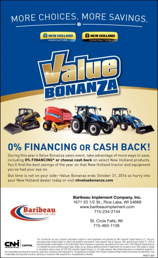 0% Financing or Cash Back